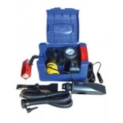Компрессор автомобильный пластиковый iSky, 18 л/мин, 5 в 1