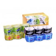 Ароматиазатор гелевый, набор 12шт, (4 запаха*3шт.): MARINE SQUASH, SQUASH, LEMON SQUASH, SAMURAI